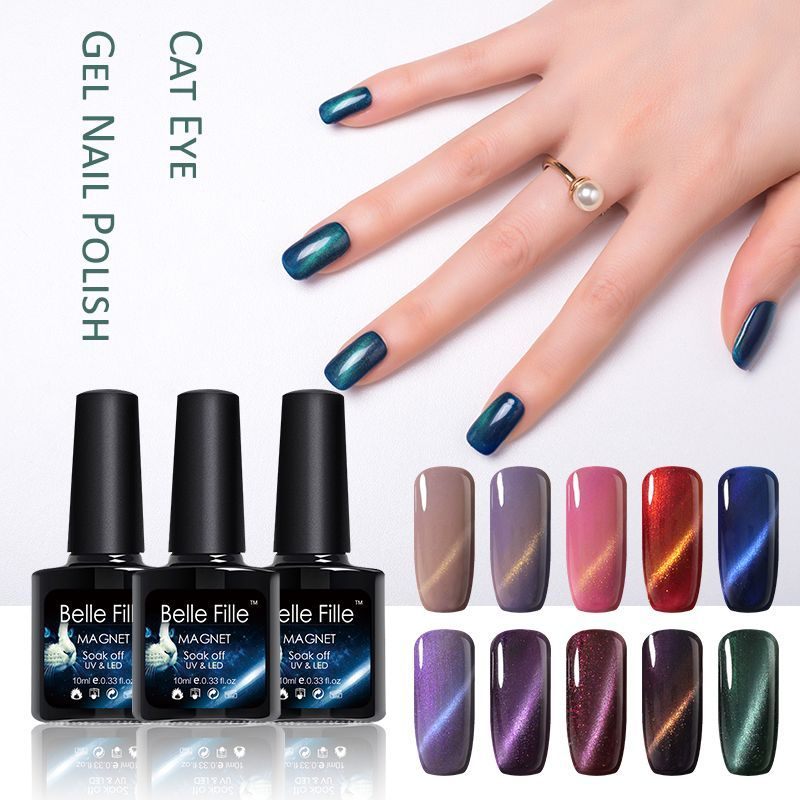 BELLE FILLE Cat Eye UV Gel Nail Polish Professional Nail Gel Lacquer ...