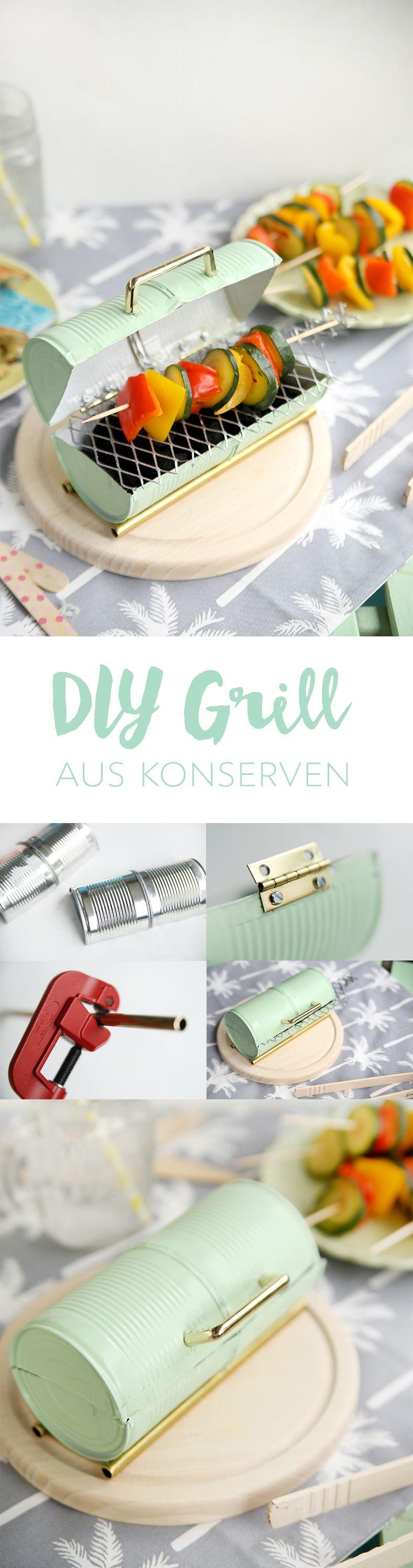 diy mini grill aus konserven selbstgemacht konservendosen grill und upcycling. Black Bedroom Furniture Sets. Home Design Ideas