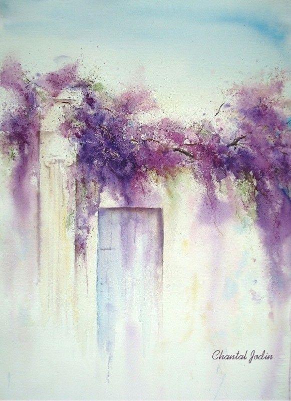 Chantal Jodin Watercolor Peinture Fleurs Aquarelle Fleurs
