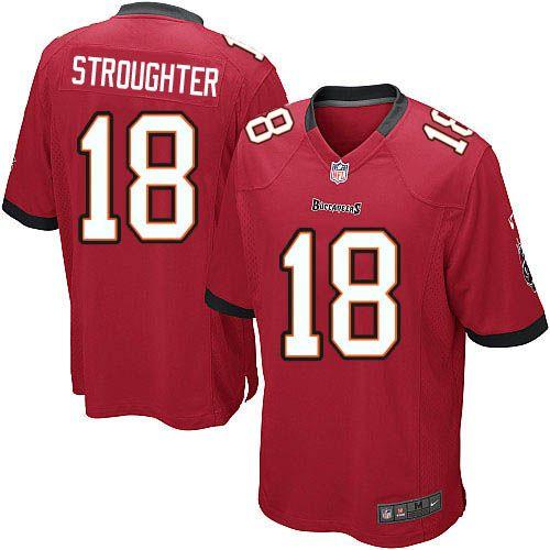 adaf72489 Men Nike Tampa Bay Buccaneers 18 Sammie Stroughter Limited Red Team Color  NFL Jersey Sale ...