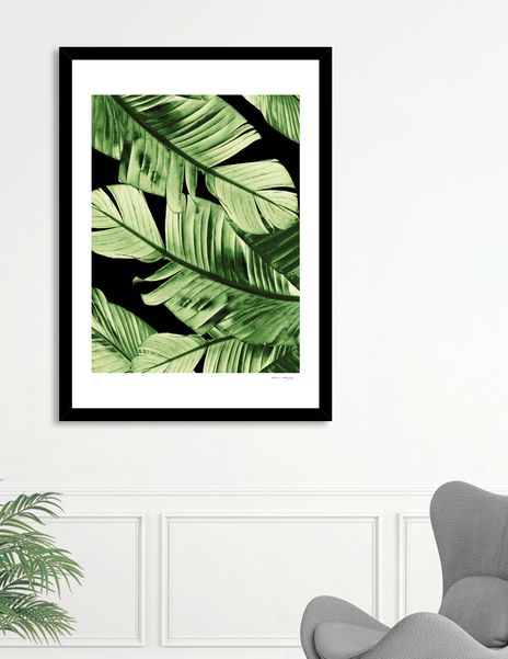 Discover «Tropical Banana Night Leaves Dream #1 #tropical #decor #art», Numbered Edition Fine Art Print by Anita's & Bella's Art - From 29€ - Curioos