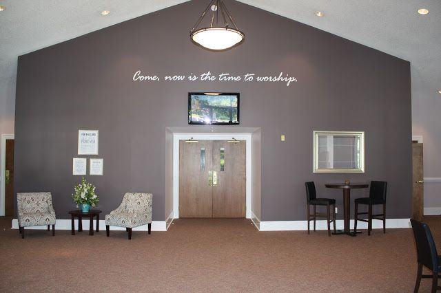 Our Church Foyer With Images Church Foyer Church Walls