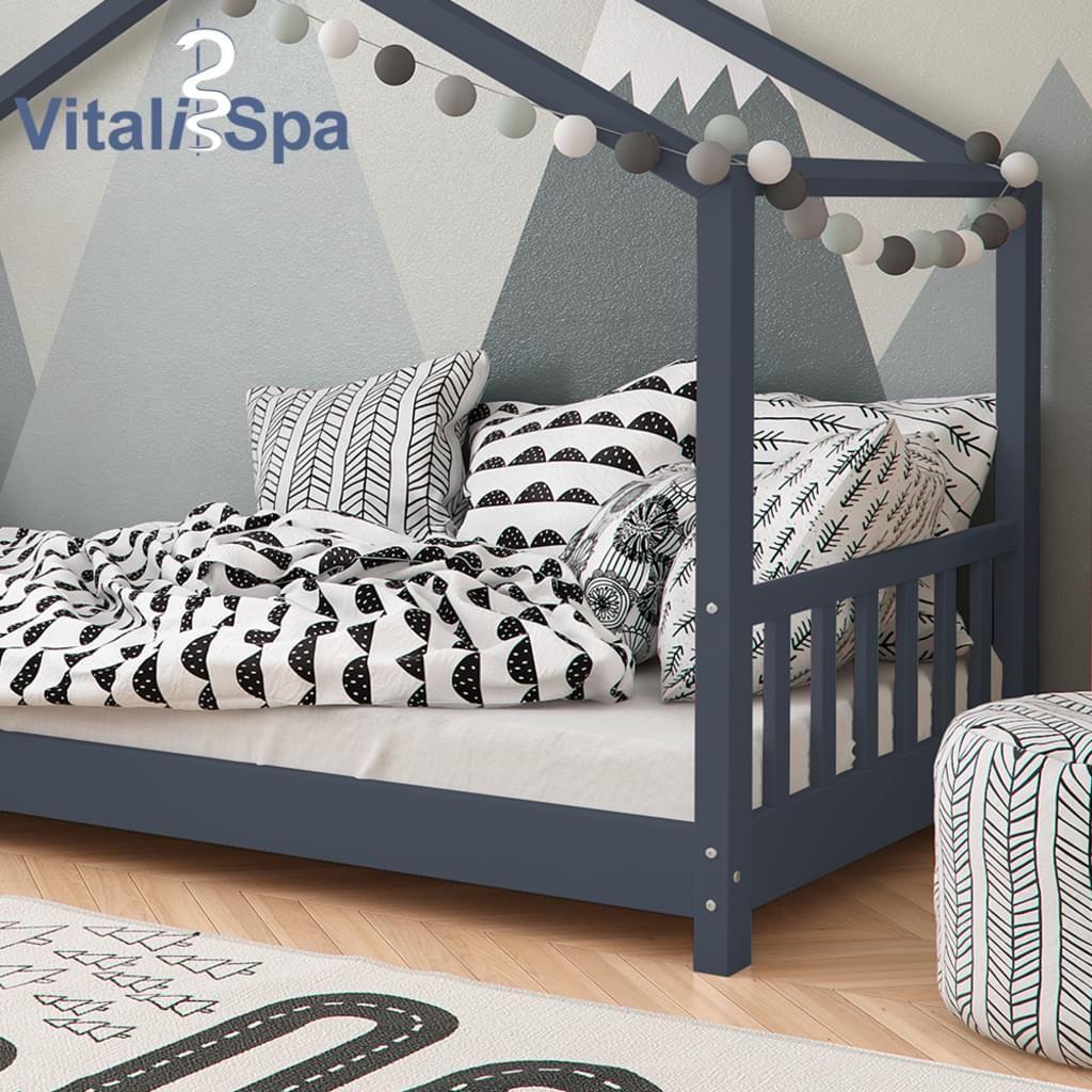 Vitalispa Kinderbett Hausbett Design 90x200cm Kinder Real Kinderbett Haus Hausbett Bett Holz
