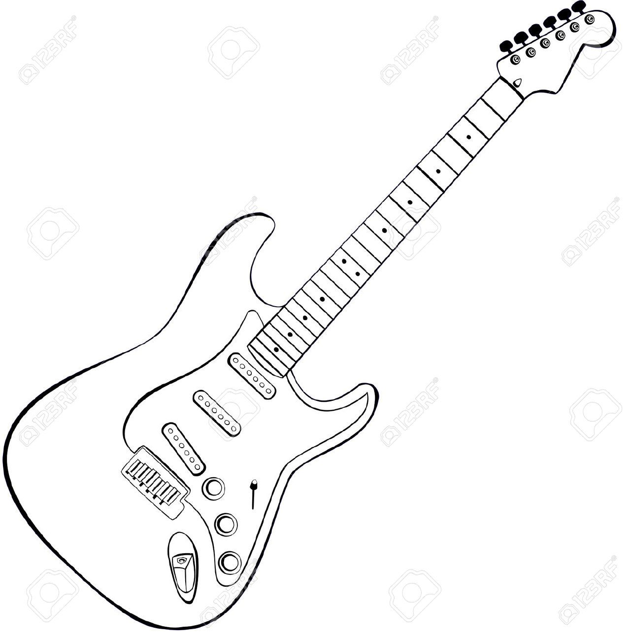Electric guitar drawings cerca con google pinteres for Easy detailed drawings