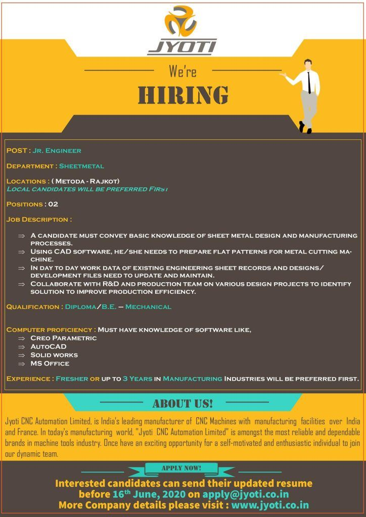 Mechanical engineer fresher experienced india job