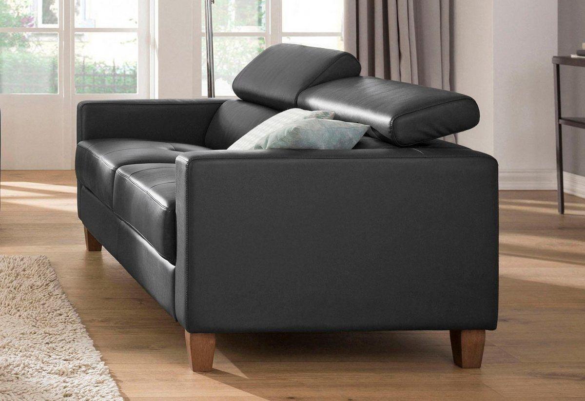3 Sitzer Luzern Mit Verstellbarer Kopfstutze Und Holzfussen Sofas 3 Sitzer Sofa Und Wohnzimmereinrichtung