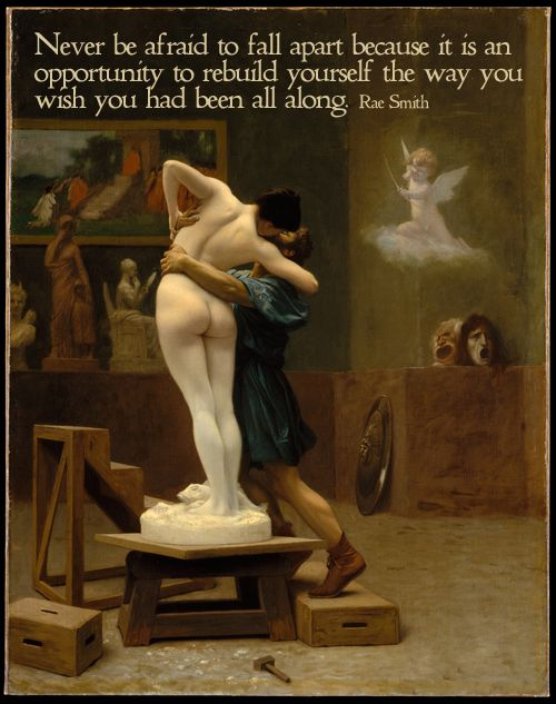 Jean-Leon Gerome's painting of Pygmalion and Galatea