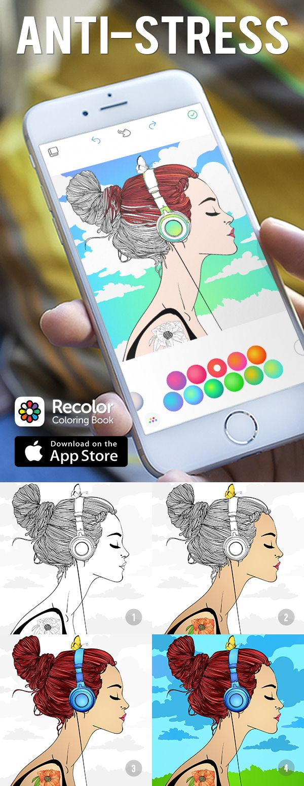 Download The Worlds Favorite Coloring Book App Recolor And Rediscover Simple Relaxation Joy Of Helps You Channel Anxiety Into