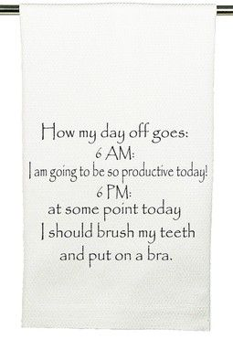 Day Off Kitchen Towel