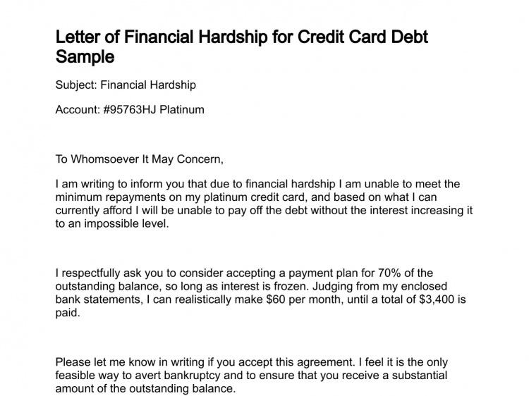 Credit Card Hardship Program Letter from i.pinimg.com