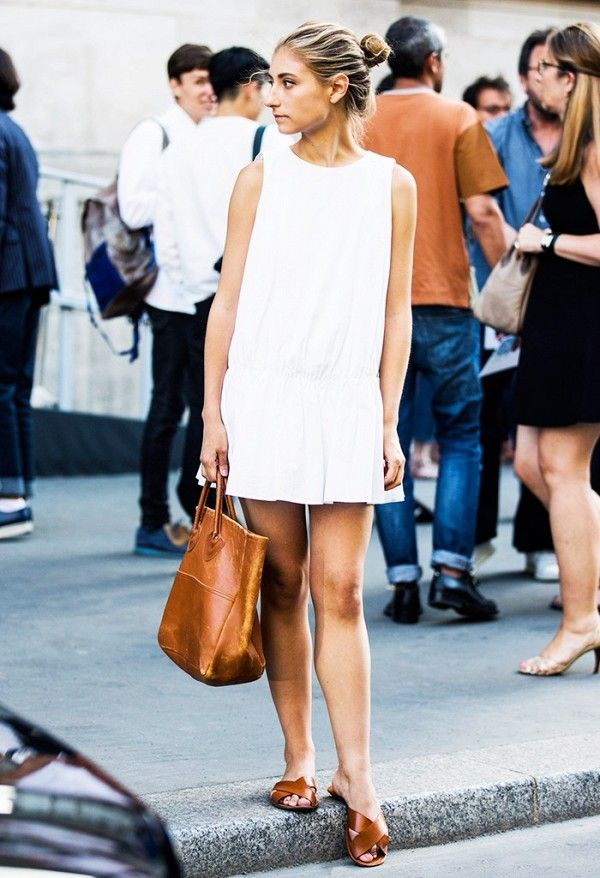 White + tan, the color combo that never goes out of style.