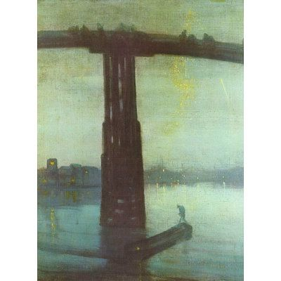 James Abbot McNeill Whistler (The old Battersea Bridge: Nocturne Blue and Gold)