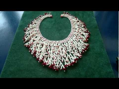 How to add a fringe to a netted necklace beading tutorial