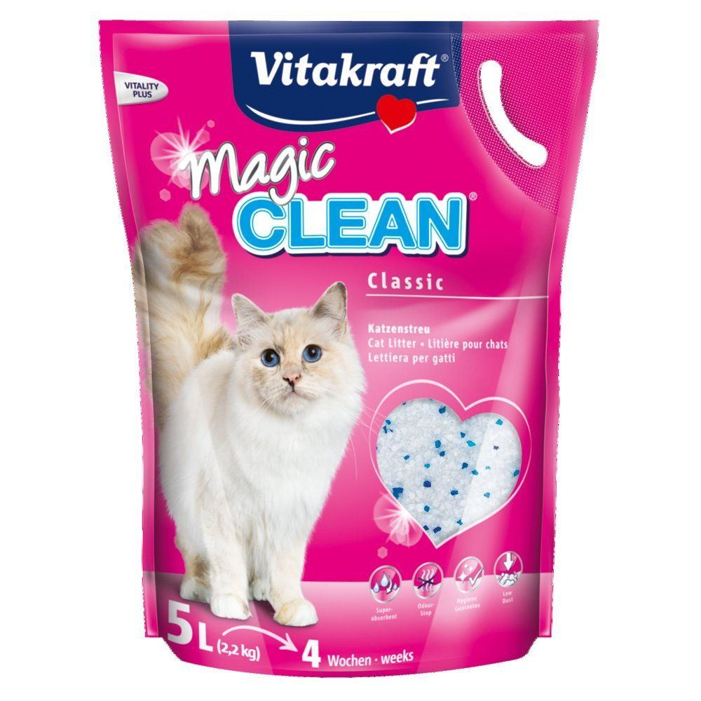 Vitakraft Magic Clean Pearl Cat Litter 5ltr 2300g Cat Litter Cat Toys Cats