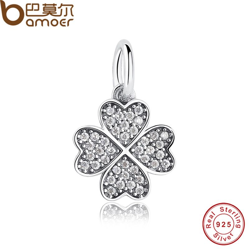 Happiness Four Leaf Clover Pendant Charms Fit Original Bracelet Amp Necklace 925 Sterling Silver Symb Pandora Bracelet Charms Clover Charm New Pandora Charms