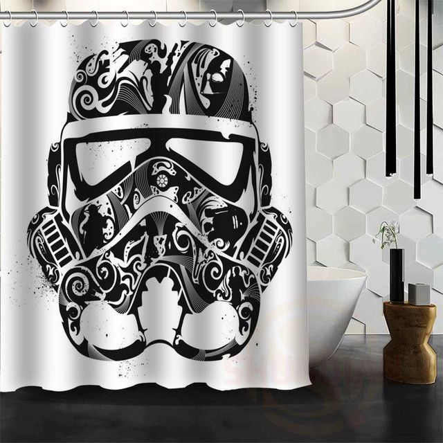New Design Custom Star Wars Shower Curtain Bathroom Decor Waterproof