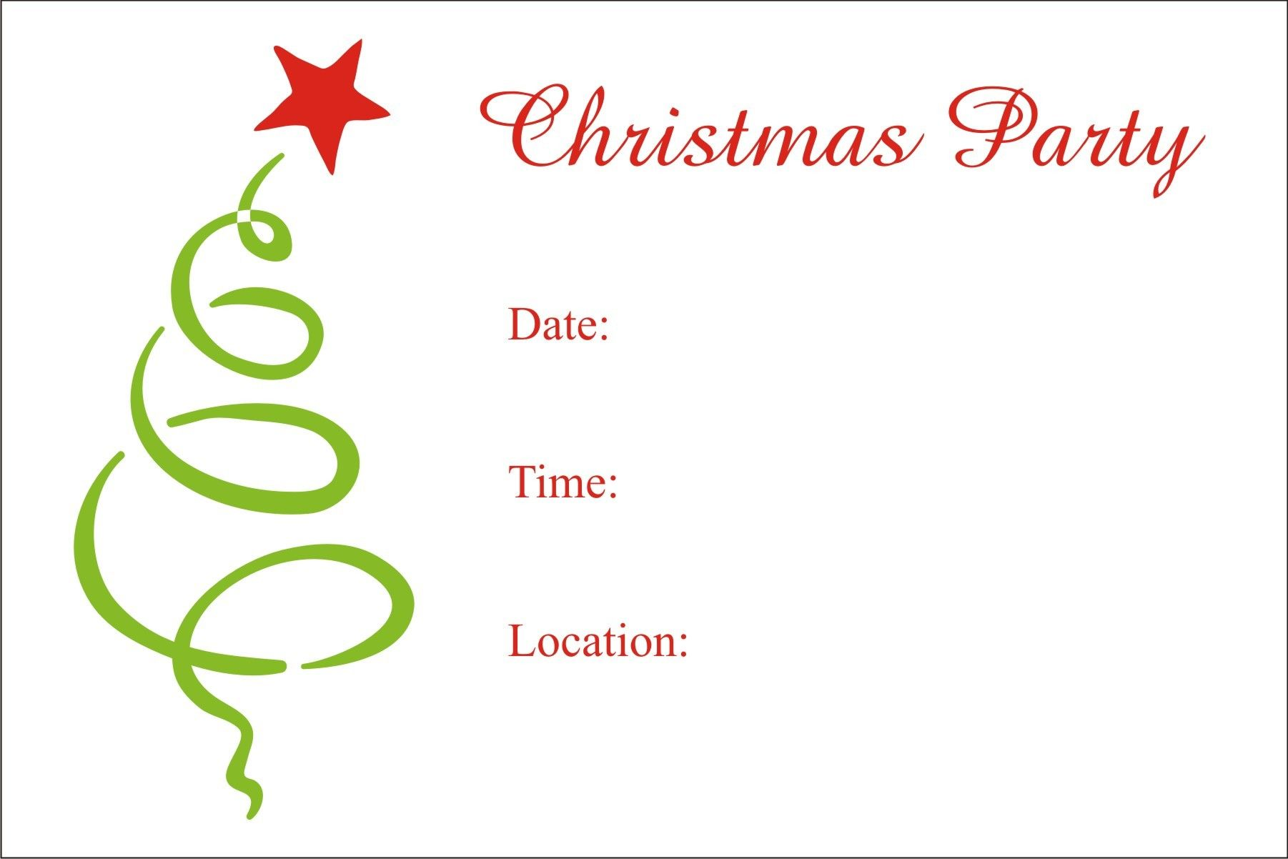 Downloadable Christmas Party Invitations Templates Free Simple Christmas Party Free Printable Holiday Invitation Just In Time For .