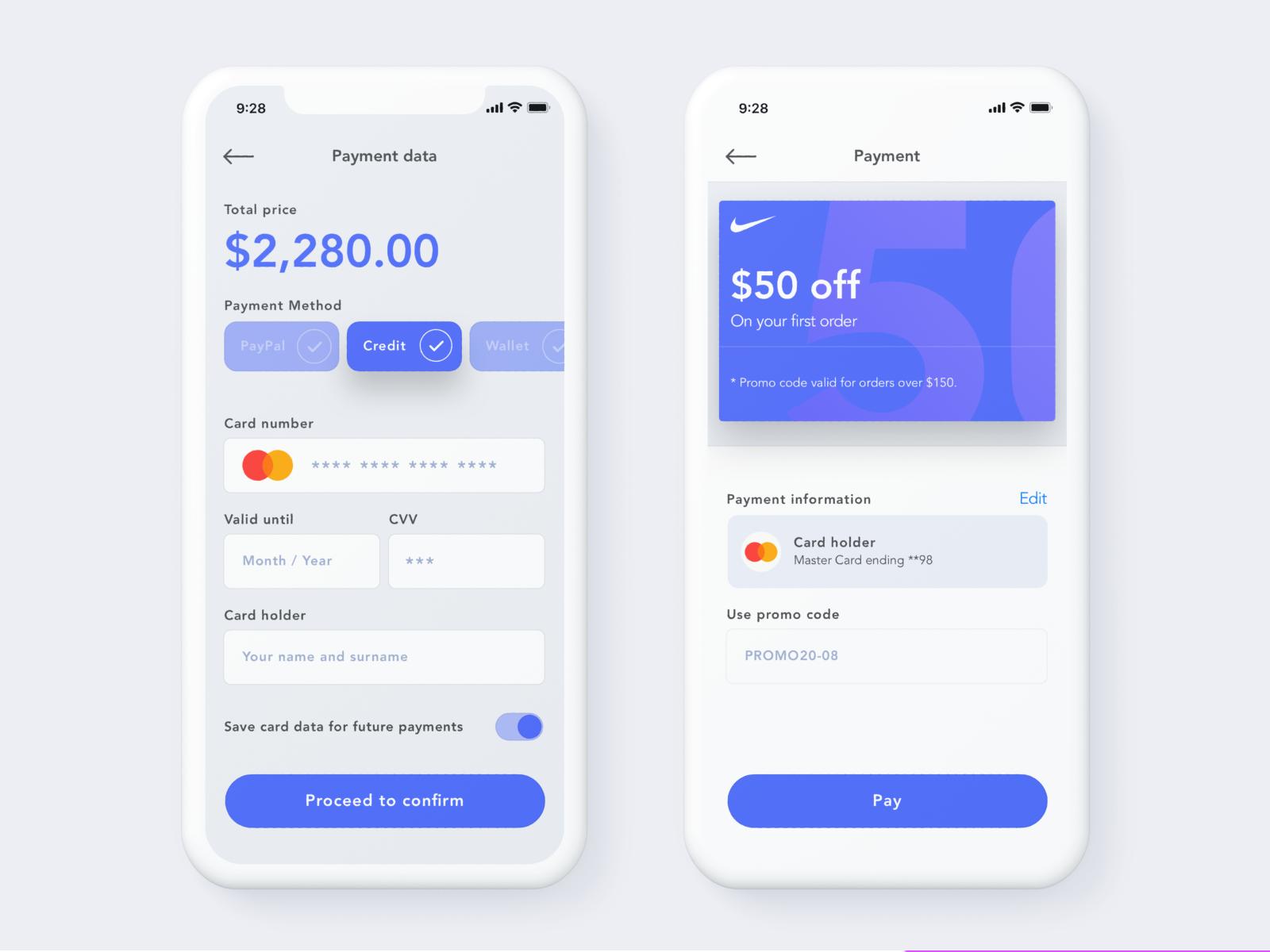 Checkout form Mobile app design, Ios design, Budget