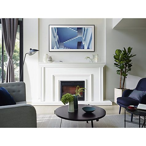Samsung The Frame Art Mode Tv With No Gap Wall Mount 65 Ultra Hd Certified With Images Framed Tv Tv Over Fireplace House Design
