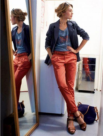 pantalon femme chino coton fashion pinterest pantalon femme pantalons et coton. Black Bedroom Furniture Sets. Home Design Ideas
