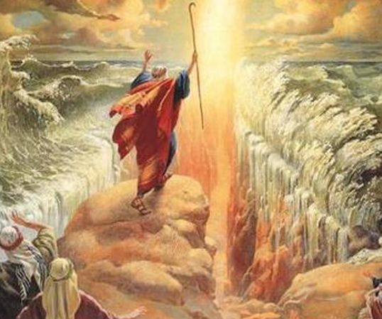 Heart To Heart Parting The Red Sea Bible Pictures Biblical Art