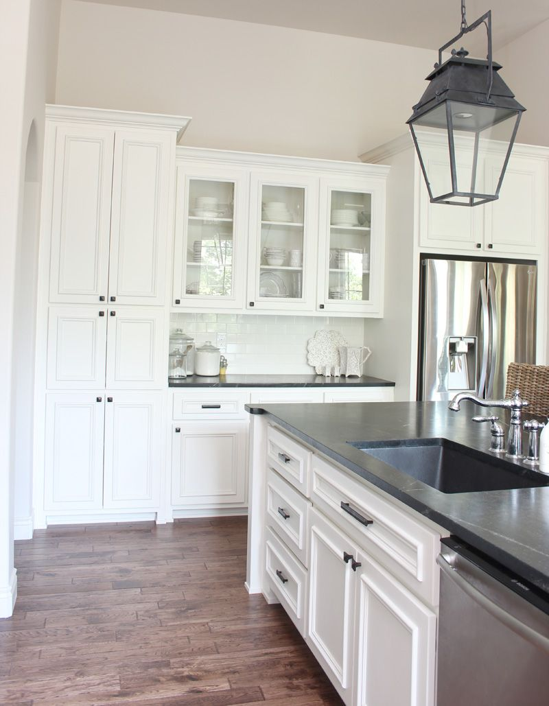 kitchen cabinet paint: westhighland white by sherwin williams ...