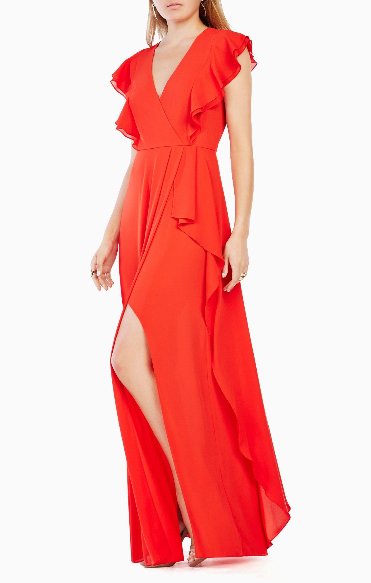 a0304f95453 Callie Ruffled Gown | High fashun in 2019 | Bcbgmaxazria dresses ...