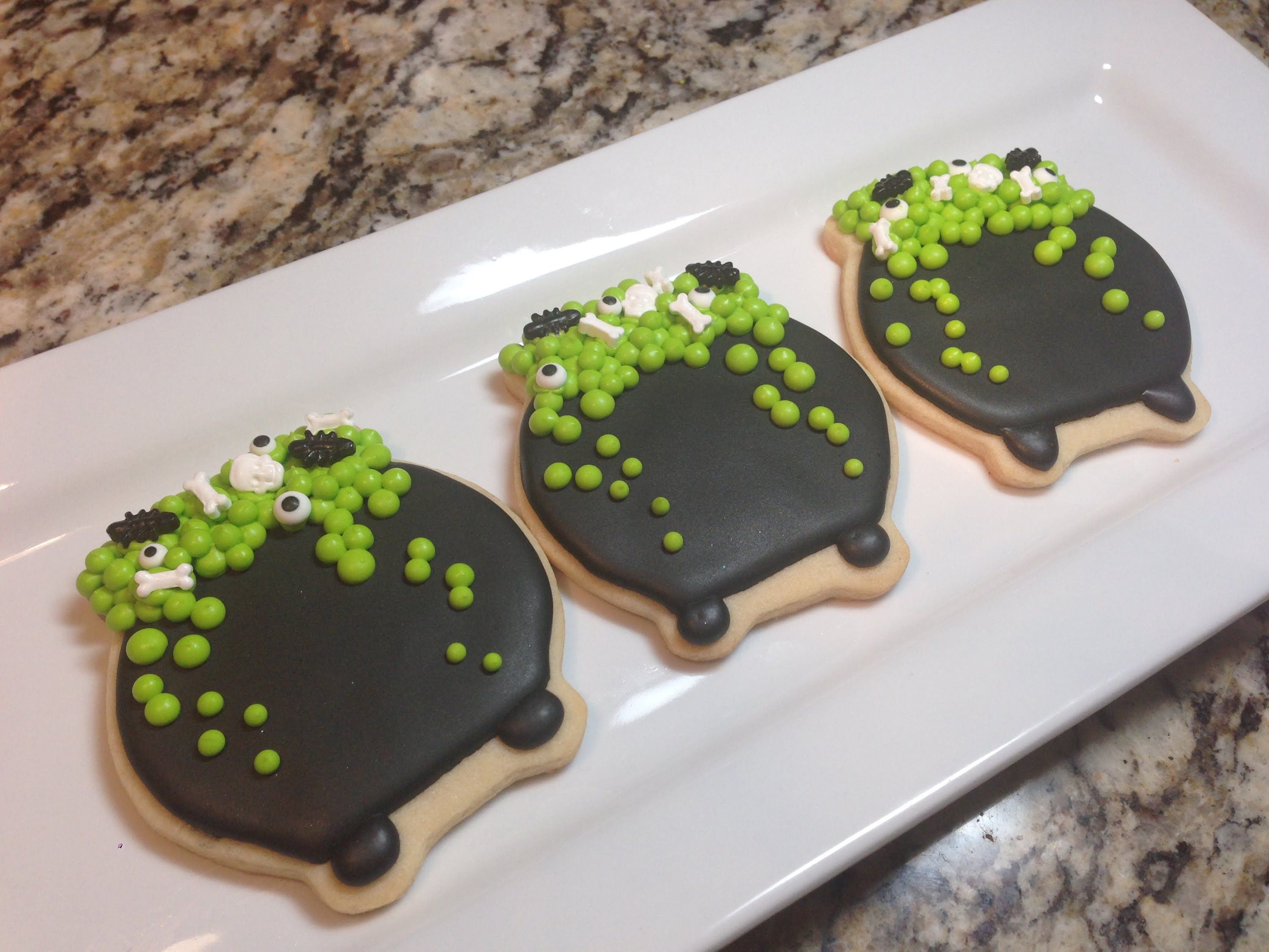halloween cauldron witches pot sugar cookies how to cookies