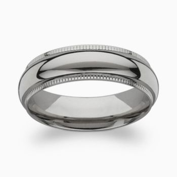 Titanium Milgrain Band - Men