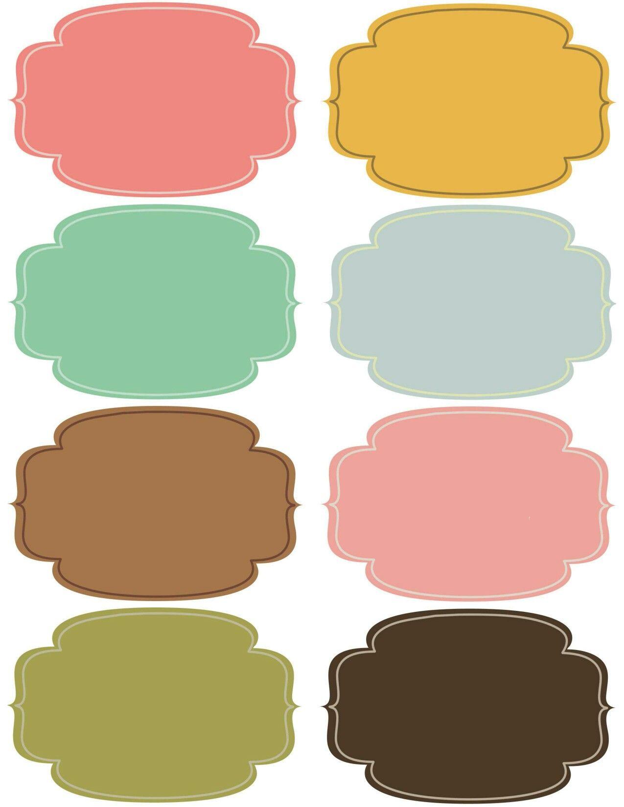 Etiquetas multiuso | Plantillas | Pinterest | Etiquetas ...