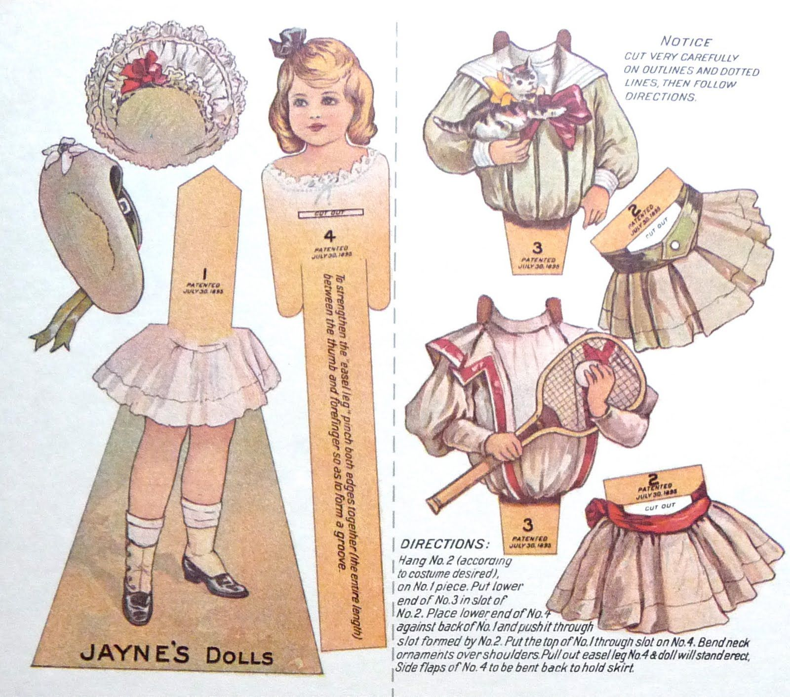 Lovely old-fashioned paper dolls to cut out for play or collage!