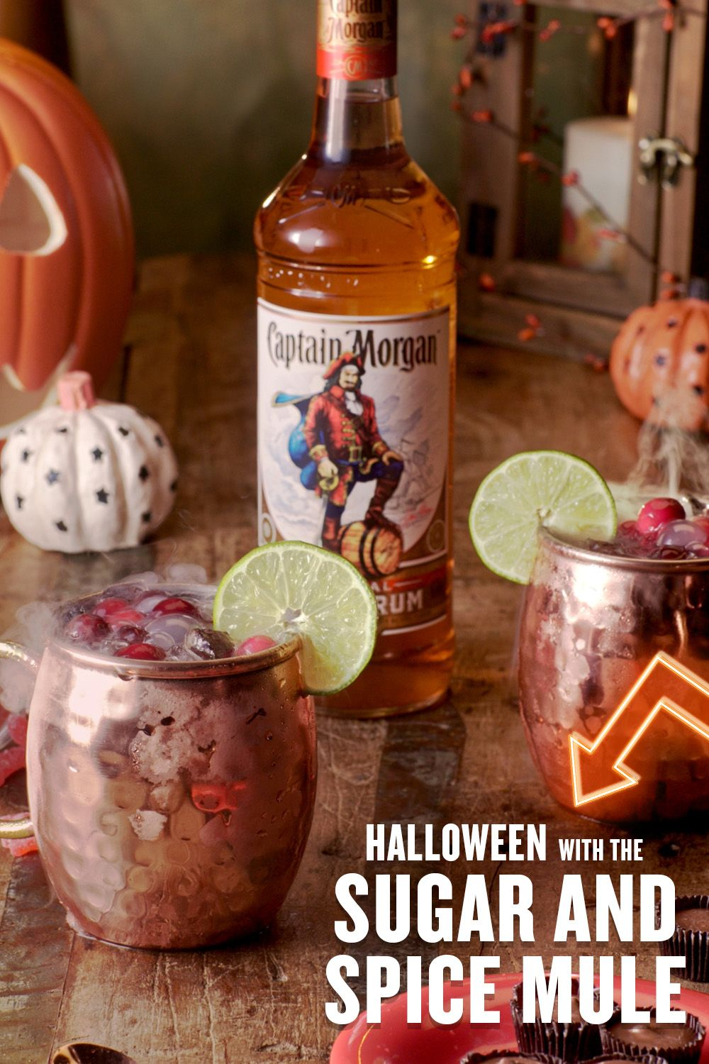 Halloween W The Captain Morgan Sugar Spice Mule Holiday Drinks Rum Cocktail Recipes Drinks