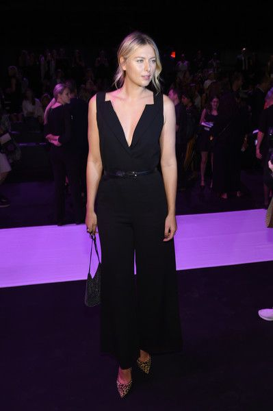 Maria Sharapova attends the Vera Wang Collection fashion show during New York Fashion Week: