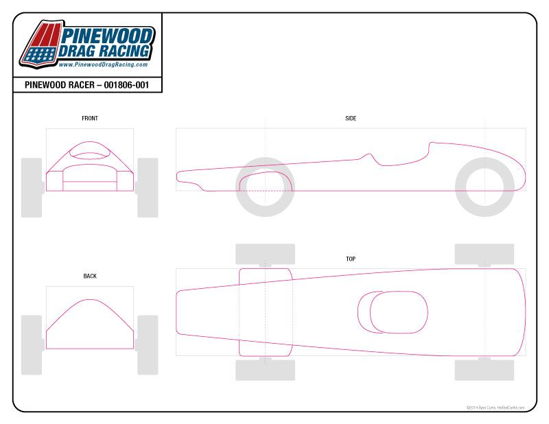 Free Pinewood Derby Template by SIN Customs - 001806 Pinewood - pinewood derby template