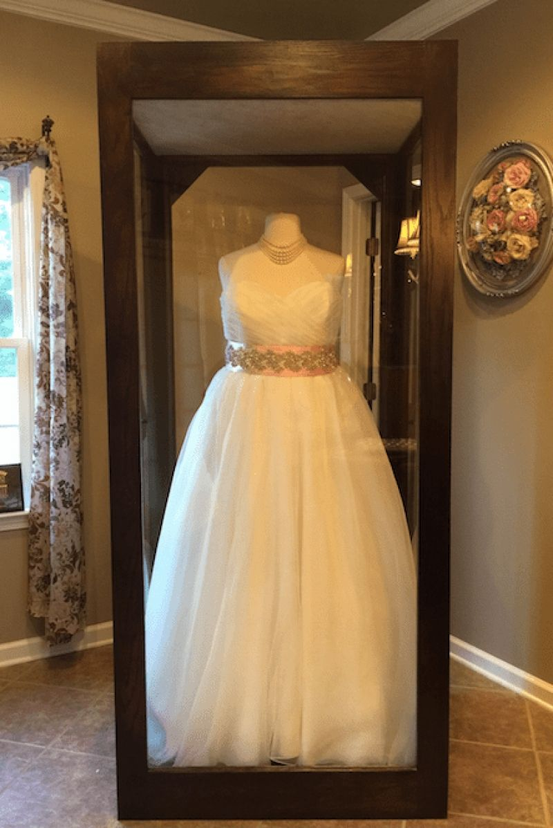Elegant Flowers Forever Inc.   Home In Luxury Wedding Dress Preservation Shadow Box