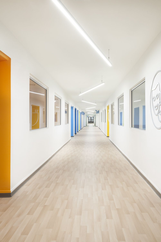 Hospital Corridor Lighting Design: Académie Sainte-Anne Academy