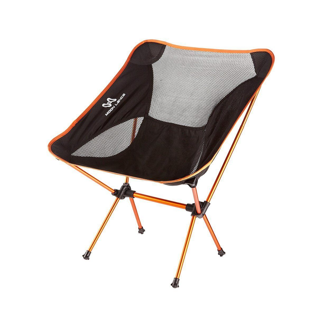 Moon Lence Ultralight Folding Chairs Heavy Duty Camping Beach With Carry Bag