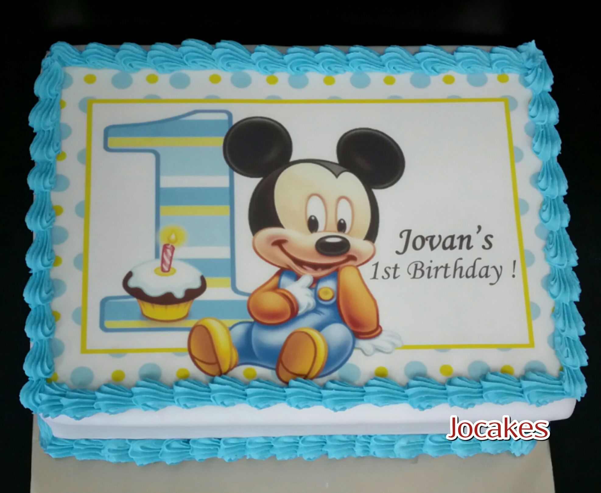 Mickey And Minnie Mouse Cake Jocakes With Images One Year