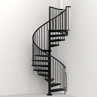 Civik 63 in. Black Spiral Staircase Kit | Alyssa\'s Place ...