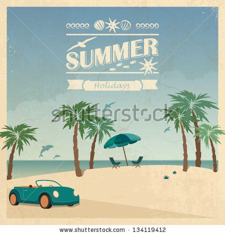 Palm Trees Retro Google Search Vintage Beach Posters Summer Colors Beach Posters