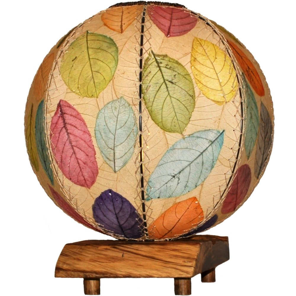 Eangee Driftwood Multi Color Cocoa Leaves Orb Table Lamp Style 8p174 Colorful Table Lamp Table Lamp Lantern Table Lamp