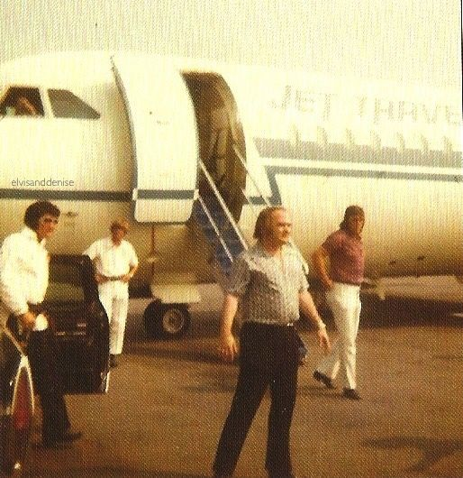 About to get on the plane - Elvis never left
