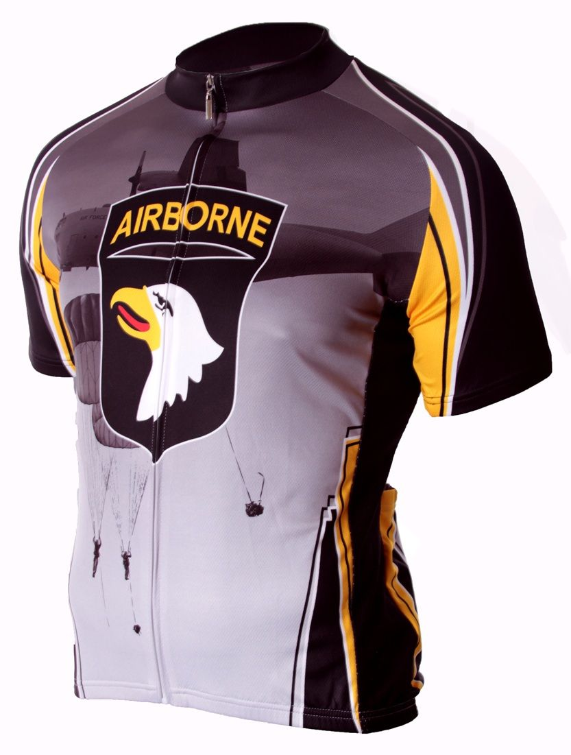 89e1a2f80 101st Airborne Cycling Jersey - FREE SHIPPING - http   www.cyclegarb.