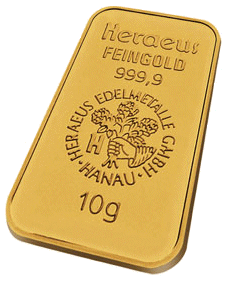 Each Heraeus Minted Gold Bar Comes In A Tamper Resistant Package With Assay Certificate The Front Of The Gold Gold Bullion Bars Gold Bullion Gold Investments
