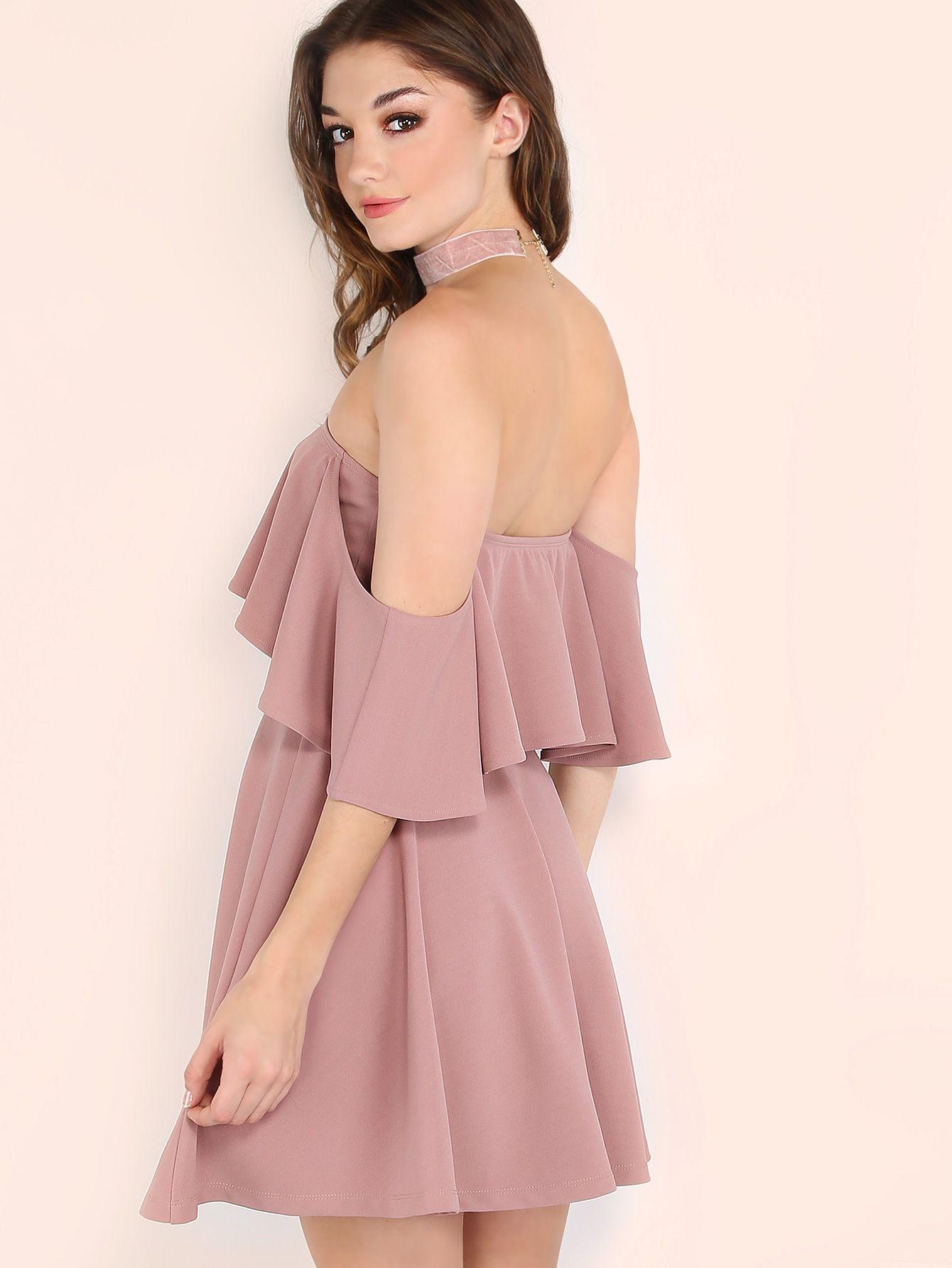 Модное платье с открытыми плечами | Vestiditos | Pinterest ...