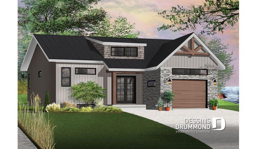 Plan De Maison Unifamiliale Urban Valley 2 No 3288 V1