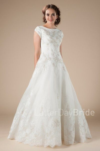modest wedding dresses, Veressa in ivory/silver at Latter Day Bride ...