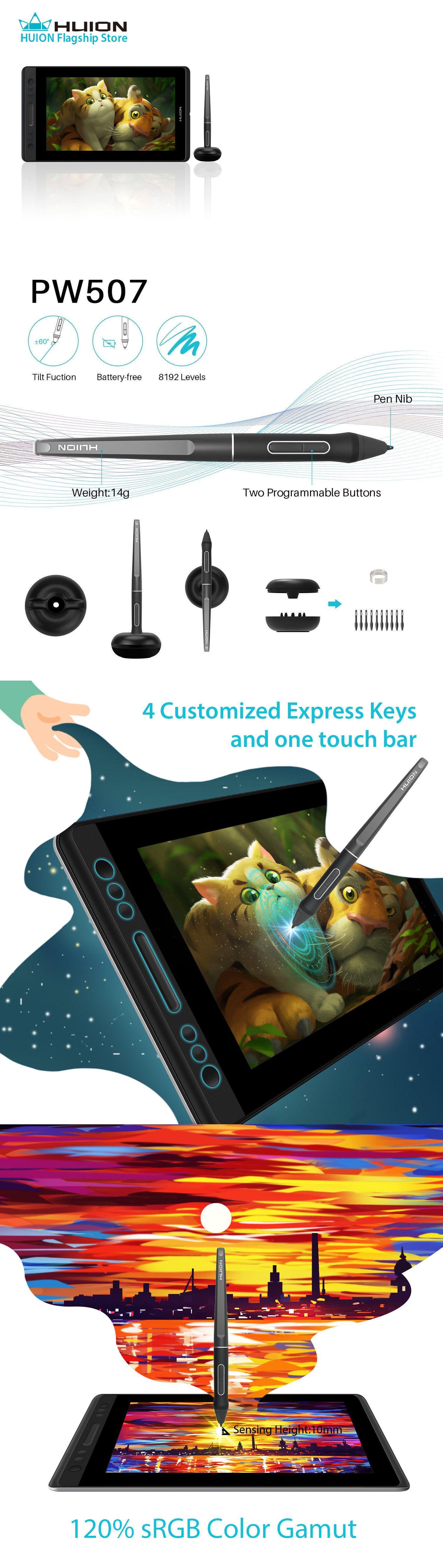 Graphics Tablets Boards and Pens 3680: Huion Kamvas Pro 13 Tilt