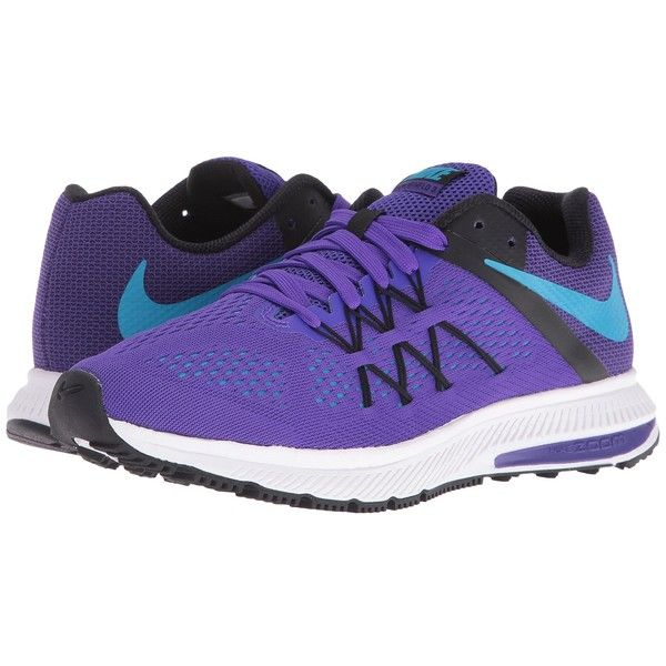 brand new 61162 dff90 Nike Zoom Winflo 3 (Fierce Purple Black White Blue Lagoon) Women s... ( 90)  ❤ liked on Polyvore featuring shoes, athletic shoes, nike athletic shoes,  ...