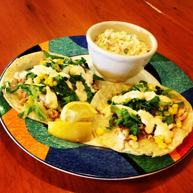 Our Cafe has new Fit Meals! The New Fish Tacos w/ Chipotle Cream and Coleslaw are only 429 calories! Buy 9 Fit meals, and you will get the 10th free.   View all of our Fit meals here- http://www.lambsfarm.org/new-healthy-menu-at-magnolia-cafe/